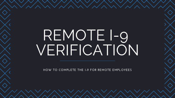 remote I-9 verification